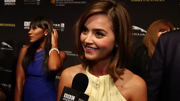Jenna Coleman at the Britannia Awards. (Photo: YouTube)
