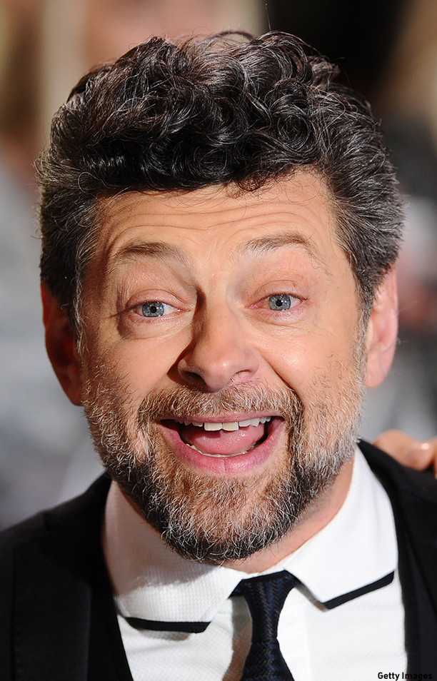 "LONDON, ENGLAND - DECEMBER 01:  Andy Serkis attends the World Premiere of ""The Hobbit: The Battle OF The Five Armies"" at Odeon Leicester Square on December 1, 2014 in London, England.  (Photo by Stuart C. Wilson/Getty Images)"