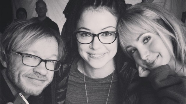 """#CloneClub with the dream team @TatianaMaslany @JohnFawcett75."" - Ksenia Solo via Twitter"