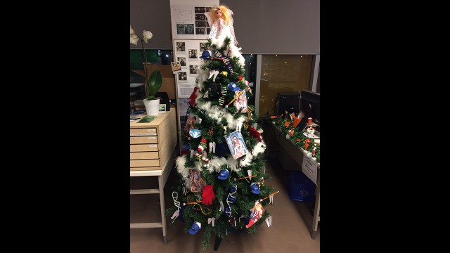 Behold the Orphan Black set Christmas tree in all its glory! Special thanks to the Orphan Black art department: Joelle Craven, Emilie Poulin, Sasha Kosovic and Art Director Jody Clement.