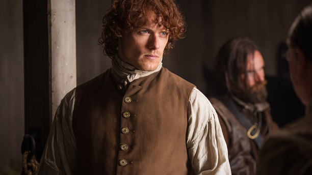 Outlander's Sam Heughan takes home the win. He thanks Anglophenia voters here. (Starz)