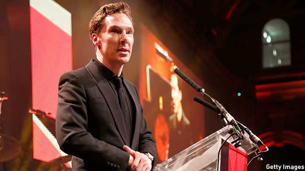Benedict Cumberbatch at the BIFA Awards (Pic: Tristan Fewings/Getty Pictures)