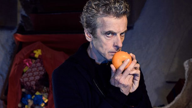 "Peter Capaldi as the Doctor in ""Last Christmas"""