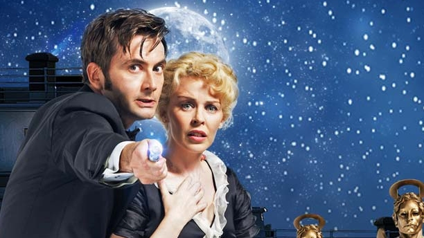 David Tennant and Kylie Minogue in 'Voyage of the Damned' (Pic: BBC)