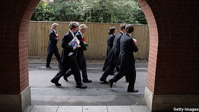 Schoolboys between classes at Eton (Pic: Christopher Furlong/Getty Images)