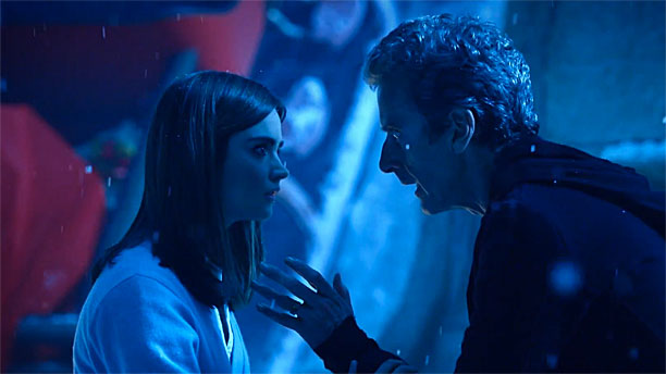 Clara and the Doctor in 'Last Christmas' (Pic: BBC)