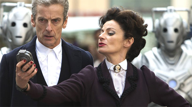 Michelle Gomez as Missy and Peter Capaldi as the Doctor (Pic: BBC)