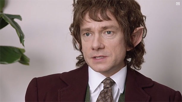 Martin Freeman in The Office: Midde Earth (Pic: NBC)