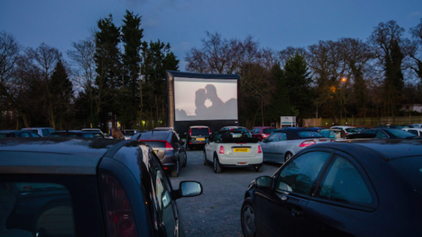 A movie viewing at the Alexandra Palace Drive-In. (Londonist)