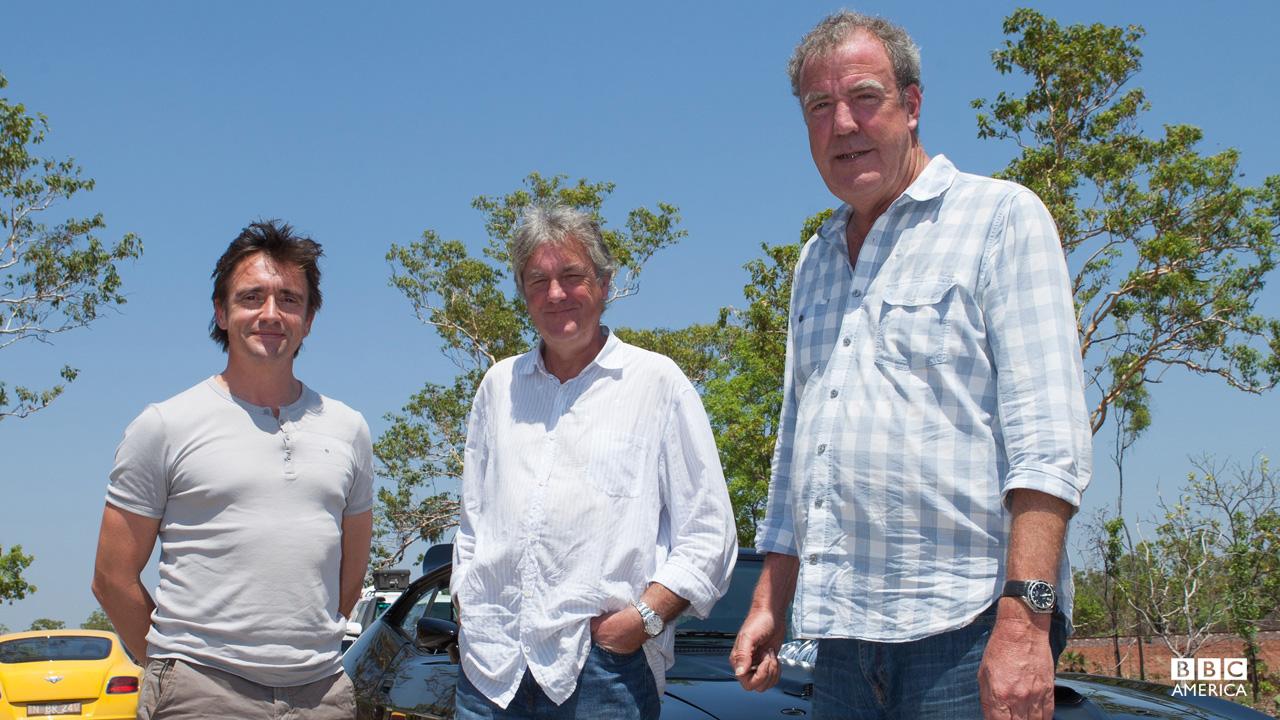 Richard Hammond, James May and Jeremy Clarkson in Australia