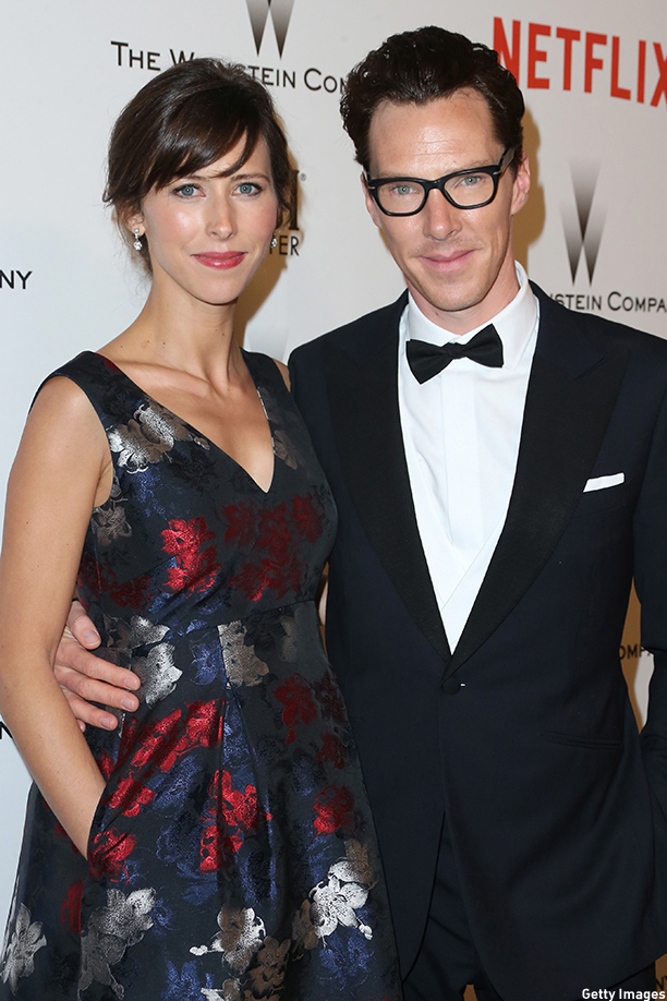 BEVERLY HILLS, CA - JANUARY 11:  Director Sophie Hunter and actor Benedict Cumberbatch attend the 2015 Weinstein Company and Netflix Golden Globes After Party at Robinsons May Lot on January 11, 2015 in Beverly Hills, California.  (Photo by Frederick M. Brown/Getty Images)