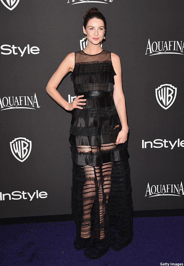 BEVERLY HILLS, CA - JANUARY 11:  Actress Caitriona Balfe attends the 2015 InStyle And Warner Bros. 72nd Annual Golden Globe Awards Post-Party at The Beverly Hilton Hotel on January 11, 2015 in Beverly Hills, California.  (Jason Merritt/Getty Images)