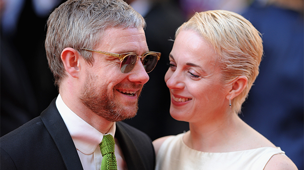 LONDON, ENGLAND - MAY 18: Martin Freeman and Amanda Abbington attend the Arqiva British Academy Television Awards at Theatre Royal on May 18, 2014 in London, England.  (Stuart C. Wilson/Getty Images)