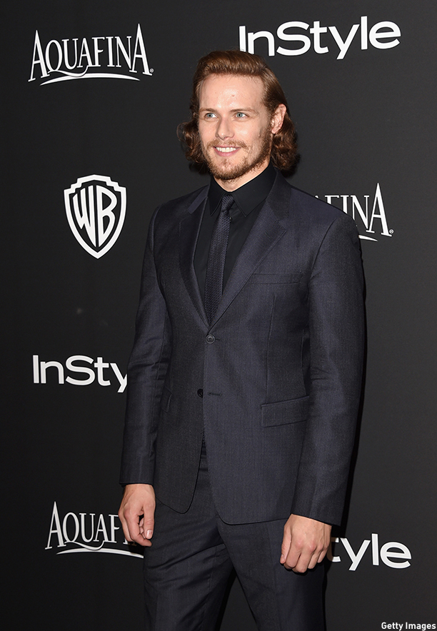BEVERLY HILLS, CA - JANUARY 11:  Sam Heughan attends the 2015 InStyle And Warner Bros. 72nd Annual Golden Globe Awards Post-Party at The Beverly Hilton Hotel on January 11, 2015 in Beverly Hills, California.  (Photo by Jason Merritt/Getty Images)