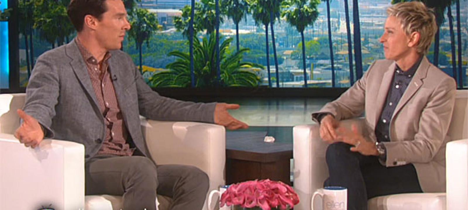 Benedict Cumberbatch and Ellen Degeneres (Pic: Very Good)