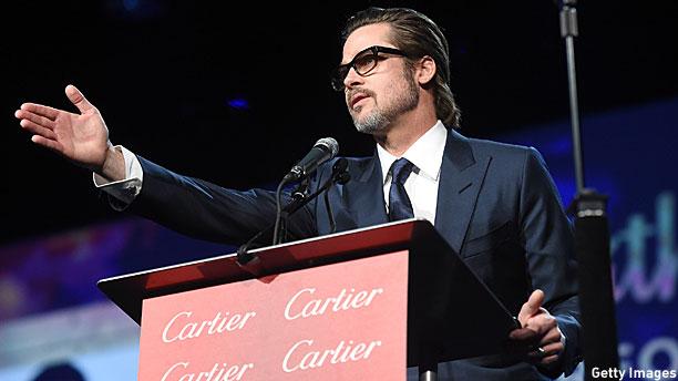 Brad Pitt at the Palm Springs Film Festival (Pic: Jason Merritt/Getty Images)