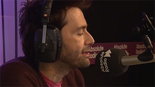 David Tennant in full flow (Pic: Absolute Radio)