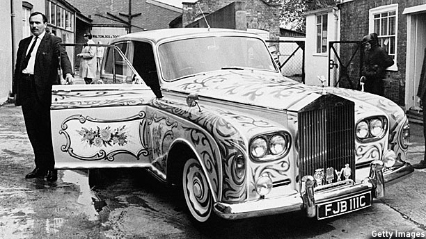 John Lennon's Rolls Royce Phantom (Pic: Ted West/Getty Images)