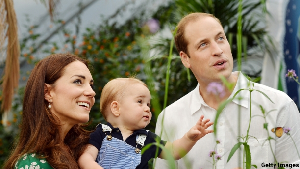 The Duchess and Duke of Cambridge and Prince George (Pic: John Stillwell - WPA Pool/Getty Images)