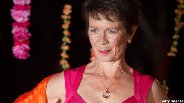 """LONDON, ENGLAND - FEBRUARY 17:  Celia Imrie attends The Royal Film Performance and World Premiere of """"The Second Best Exotic Marigold Hotel"""" at Odeon Leicester Square on February 17, 2015 in London, England.  (Photo by Ian Gavan/Getty Images)"""