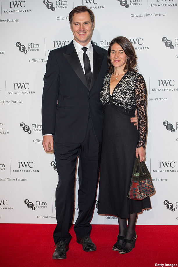 LONDON, ENGLAND - OCTOBER 07:  Esther Freud and David Morrissey attend the IWC Gala dinner in honour of the BFI at Battersea Evolution on October 7, 2014 in London, England.  (Photo by Samir Hussein/Getty Images)