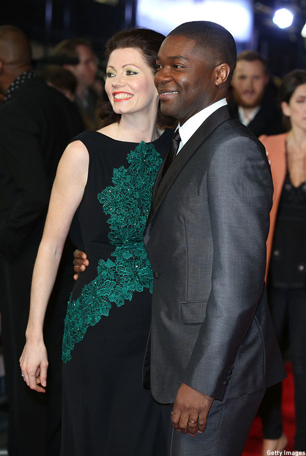 """LONDON, ENGLAND - JANUARY 27:  Jessica Oyelowo and David Oyelowo attend the European premiere of """"Selma"""" at The Curzon Mayfair on January 27, 2015 in London, England.  (Photo by Tim P. Whitby/Getty Images)"""