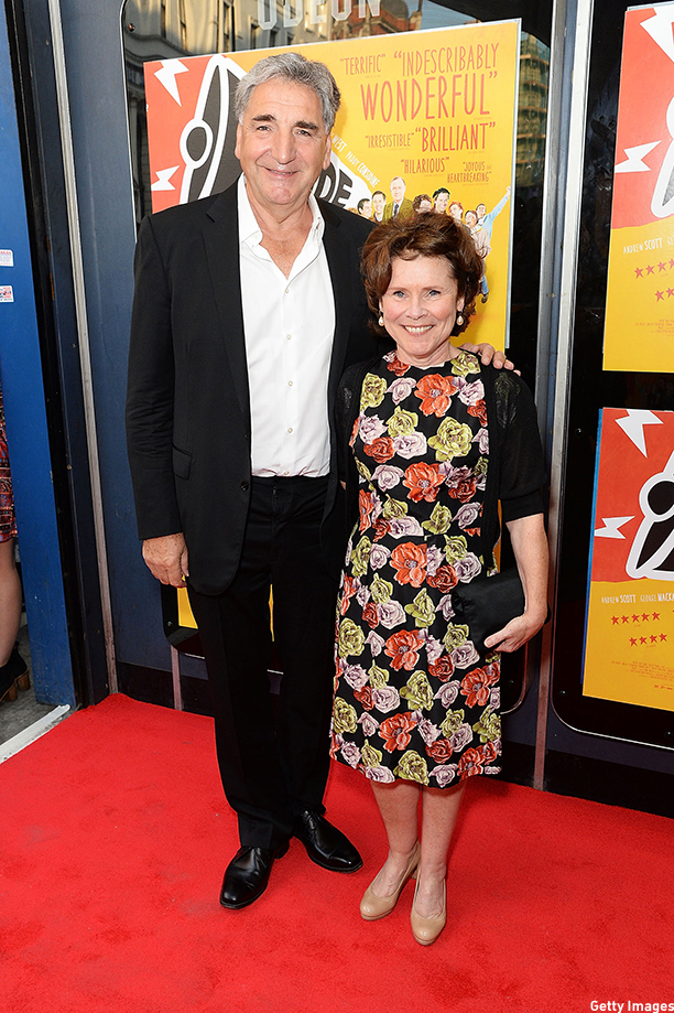 """LONDON, ENGLAND - SEPTEMBER 02:  Jim Carter and Imelda Staunton attends the UK Premiere of """"Pride"""" at Odeon Camden on September 2, 2014 in London, England.  (Photo by Dave Hogan/Getty Images)"""