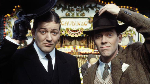 Fry and Laurie kick off another show in 1990, called Jeeves and Wooster. (Granada)