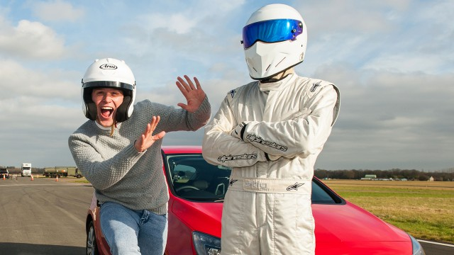 British pop star Olly Murs and The Stig