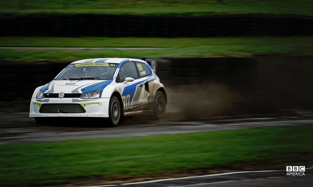 James May driving the Marklund Motorsport VW Polo