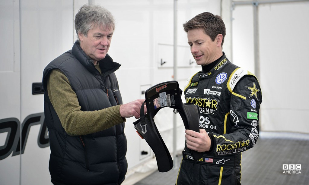 James May and Tanner Foust