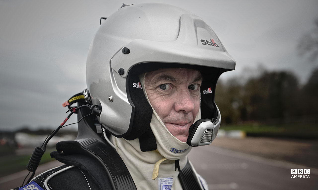 James May ready to get his World Rallycross racing on at Lydden Hill Race Circuit.