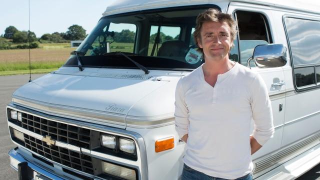 Richard Hammond with the Chevrolet GMC Day Van V8