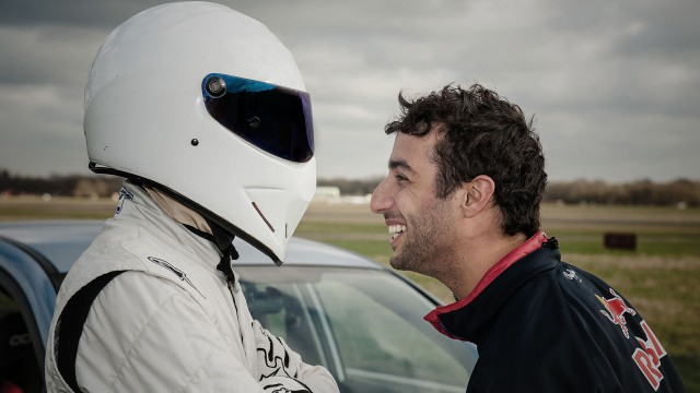 The Stig and F1 driver Daniel Ricciardo