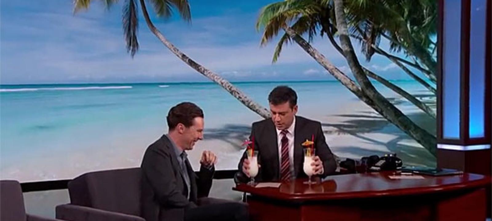 Benedict Cumberbatch on 'Jimmy Kimmel Live' (Pic: ABC)
