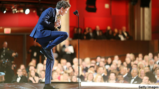 Eddie Redmayne is just SO cool. (Pic: Christopher Polk/Getty Images)