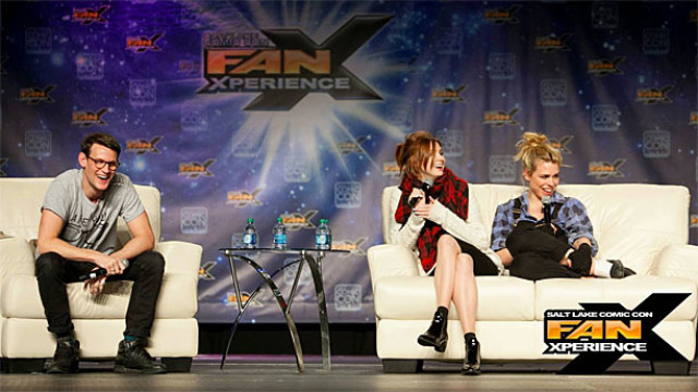 Matt Smith, Karen Gillan and Billie Piper at Salt Lake City FanXperience (Pic: Facebook)