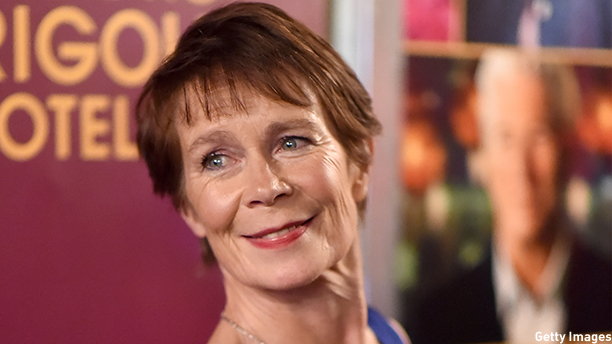 Celia Imrie at the New York premiere of 'The Second Best Exotic Marigold Hotel.' (Photo: Dimitrios Kambouris/Getty Images)