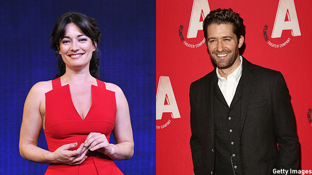 Laura Michelle Kelly (left) and 'Glee' star Matthew Morrison lead the new Broadway adaptation of 'Finding Neverland' (Photos: Getty Images)