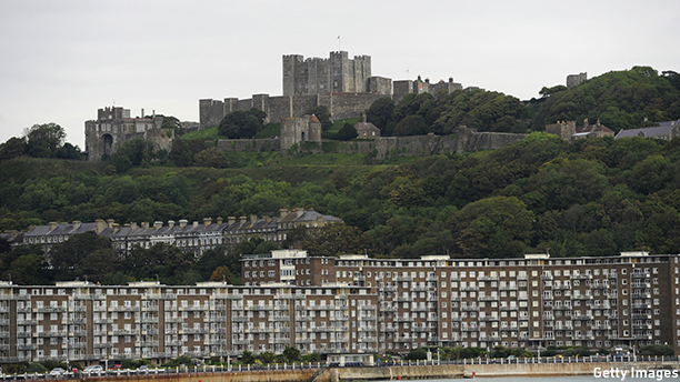 A general view of the the Dover Castle is pictured in Dover, Kent, south east England, on August 31, 2011. Dover is a major ferry port in the county of Kent, in south east England and faces France across the narrowest part of the English Channel. AFP PHOTO/ FACUNDO ARRIZABALAGA (Photo credit should read Facundo Arrizabalaga/AFP/Getty Images)