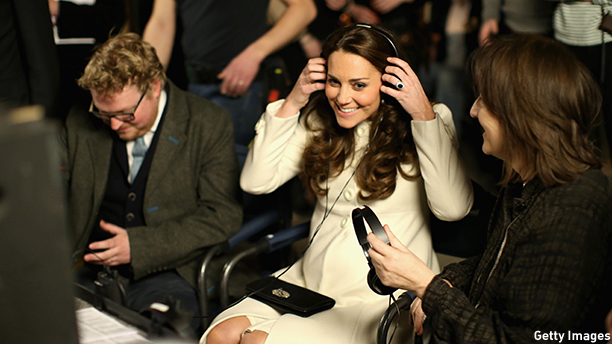 LONDON, ENGLAND - MARCH 12:  Catherine, Duchess of Cambridge watches live filming of a scene during an official visit to the set of Downton Abbey at Ealing Studios on March 12, 2015 in London, England.  (Photo by Chris Jackson - WPA Pool/Getty Images)