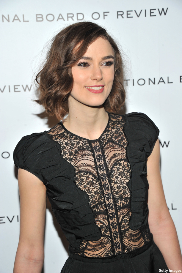 NEW YORK, NY - JANUARY 10:  Keira Knightley  attends the 2011 National Board of Review Awards gala at Cipriani 42nd Street on January 10, 2012 in New York City.  (Photo by Stephen Lovekin/Getty Images)