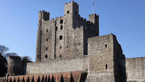 ROCHESTER, ENGLAND - FEBRUARY 03:  A general view of Rochester Castle, which is believed to be the inspiration for locations in Charles Dickens' novels when he lived near the city on February 3, 2012 in Rochester, England. The bicentenary of Charles Dickens' birth, one of England's greatest ever authors, is marked on February 7, 2012. Dickens' novels, written and set during the Victorian period, represent some of English literature's most iconic texts. His work, concentrating largely on social injustice, continues to hold relevance with over 300 film and television adaptations based on his books.  (Photo by Oli Scarff/Getty Images)