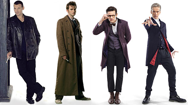 The Four Doctors: L-R Christopher Eccleston, David Tennant, Matt Smith, Peter Capaldi (Pic: BBC)