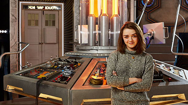 Maisie Williams in the TARDIS (Pic: BBC)