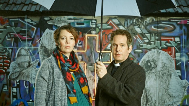 Olivia Colman and Tom Hollander in 'Rev' (Pic: BBC)