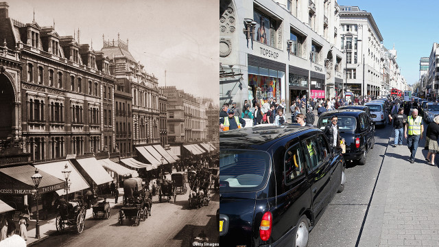 It's hard to say: Was Oxford Street busier in 1890 or now? (Getty Images)