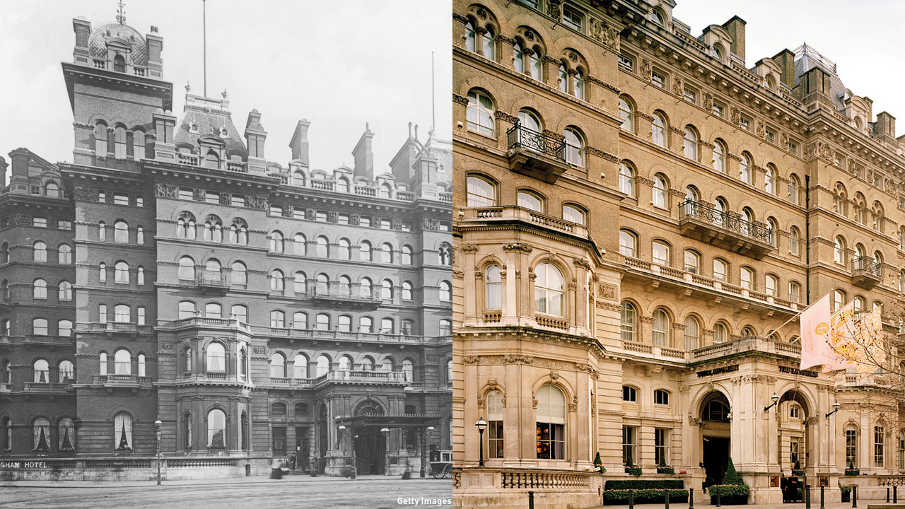 The Langham Hotel, located in Marylebone, was opened in 1865 and is still welcoming guests. (Getty Images/Wiki)