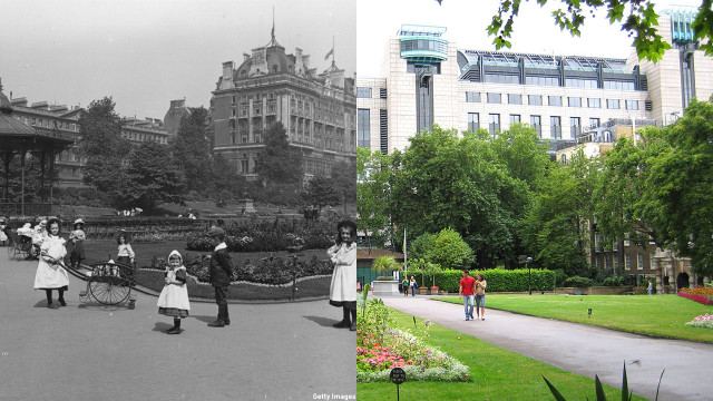 The Victoria Embarkment Gardens officially opened in 1870. The public gardens are a regular destination spot for visitors today. (Getty Images/Wiki)
