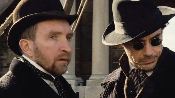 Eddie Marsan and Robert Downey Jnr. in 'Sherlock Holmes' (Pic: Warner Bros)